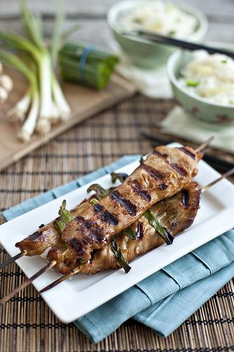 yakitori with honey chicken yakitori chicken yakitori with honey sauce ...