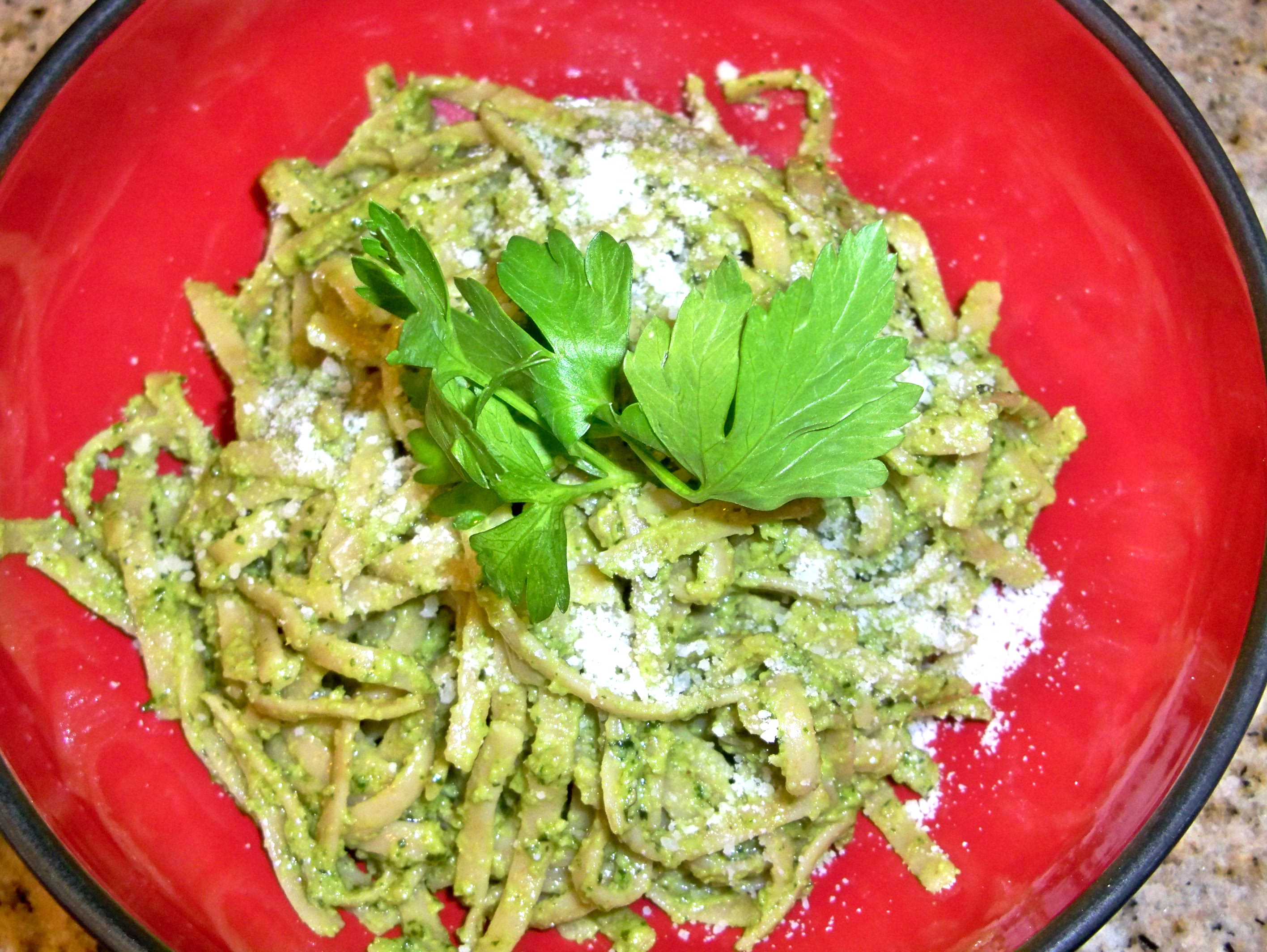 Basil Parsley Pesto with Walnuts | AttractingWellness.net