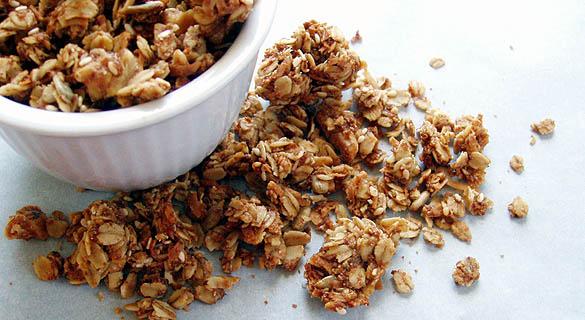 Simple Oat & Nut Granola | AttractingWellness.net